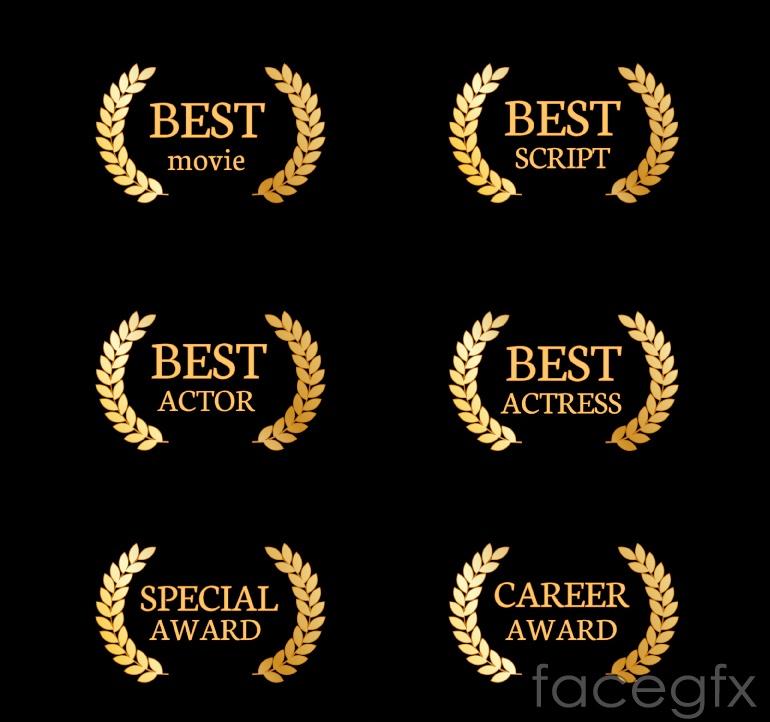 6 Golden grain Awards logo vector