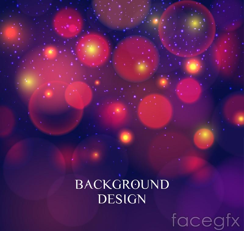 Color Halo background design vector graph