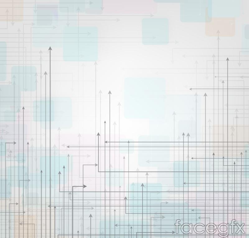 Creative fine arrow background vector