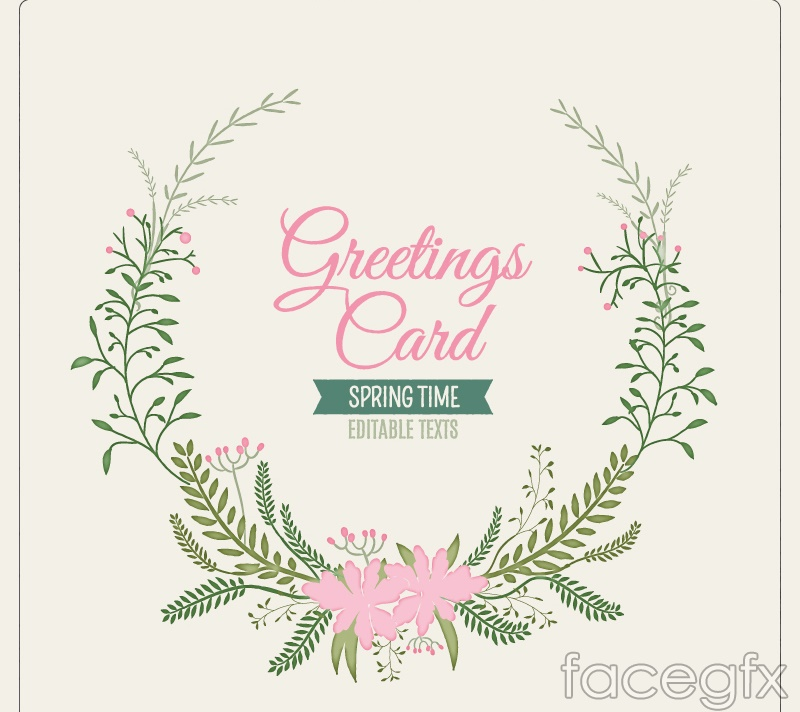 Elegant wreath card vector