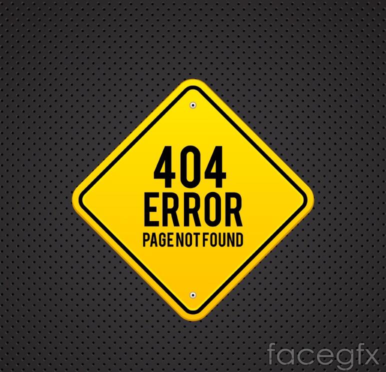 Metal 404 error pages design vector