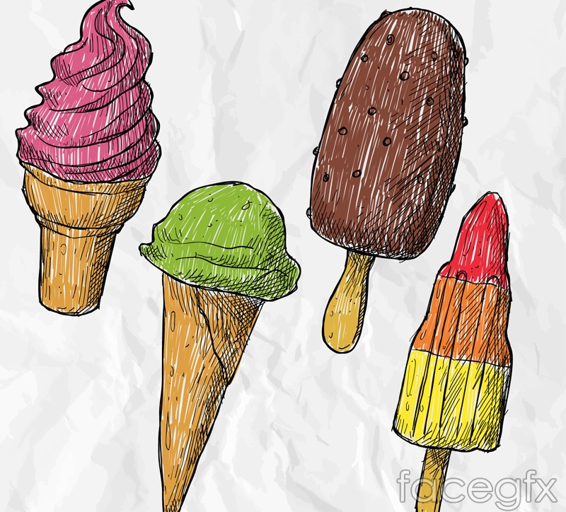 4 painted cream vector