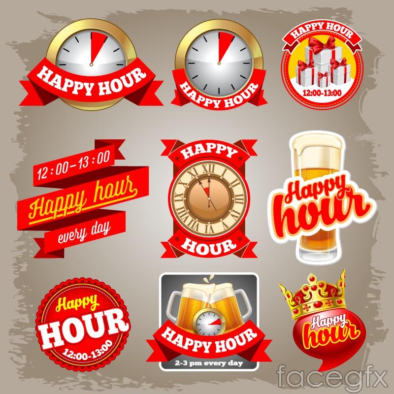 9 red beer label vector