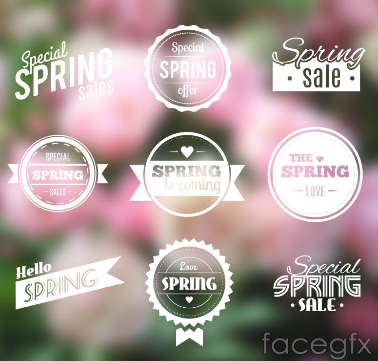 9 spring sale tag vector
