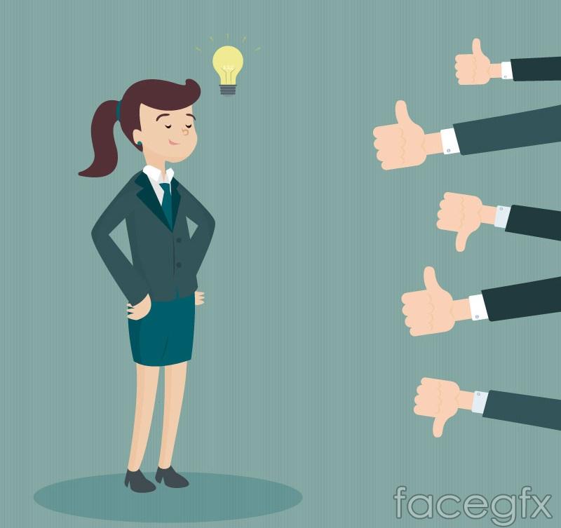 Business-woman cartoon vector