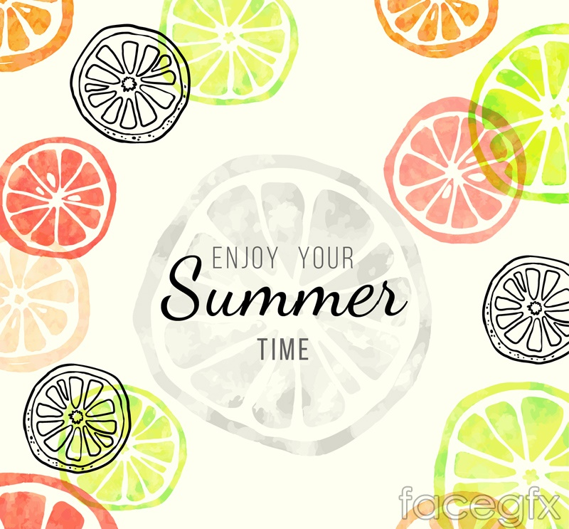 Color orange summer vector