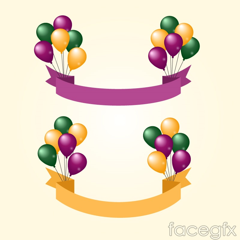 Colorful balloons decorated banner vector