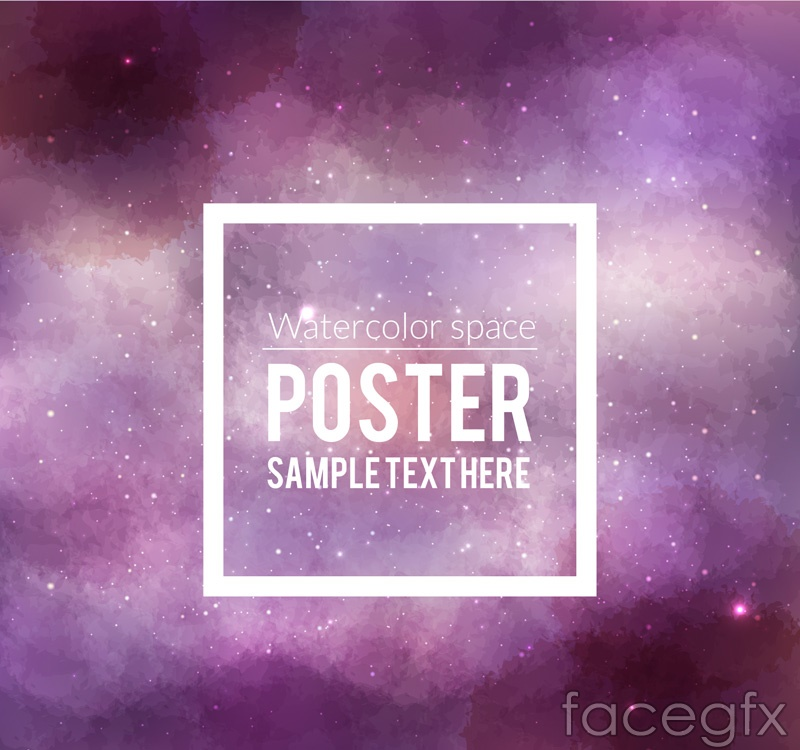 Fantasy purple poster space vector