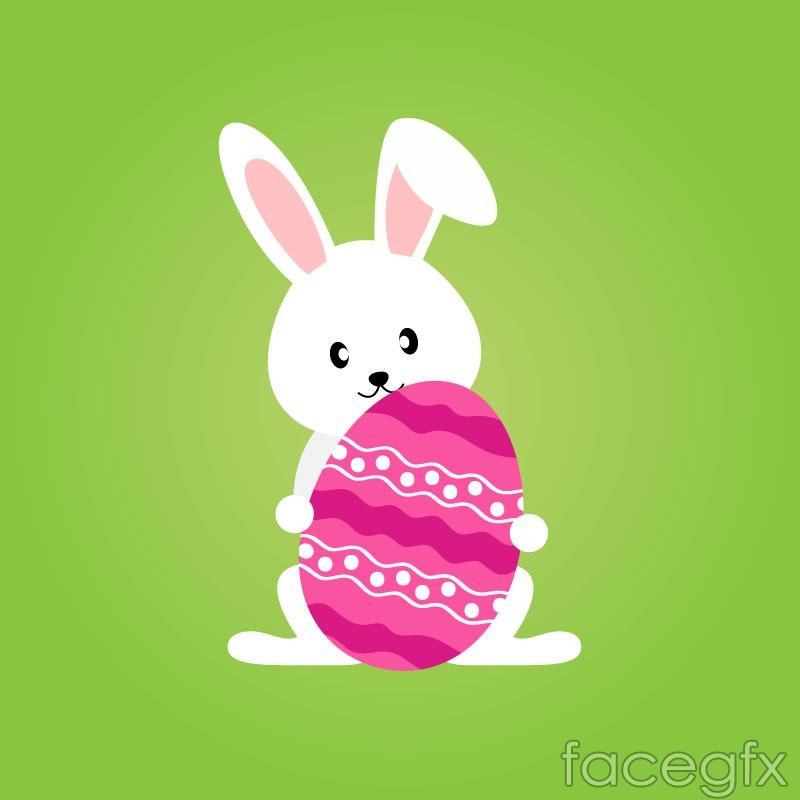 Holding pattern egg white vector