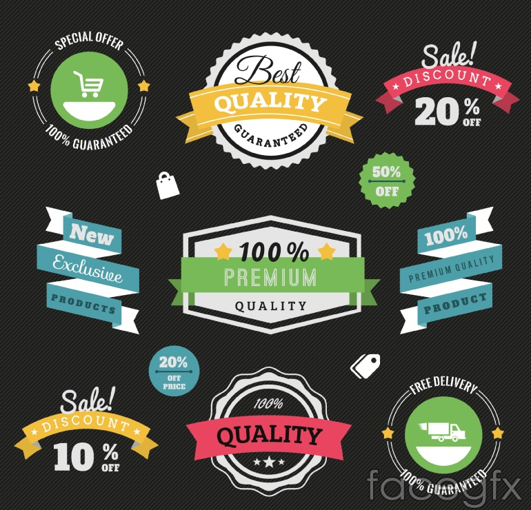 11 creative promotional tag vector