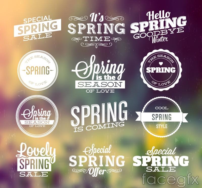 12 spring sale tag vector