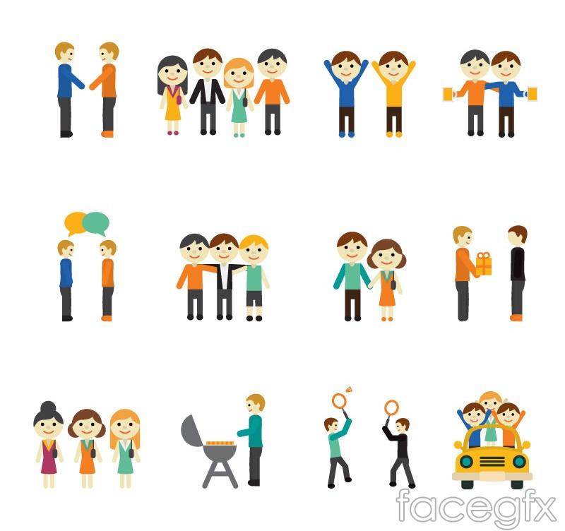 16 cartoon icon vector