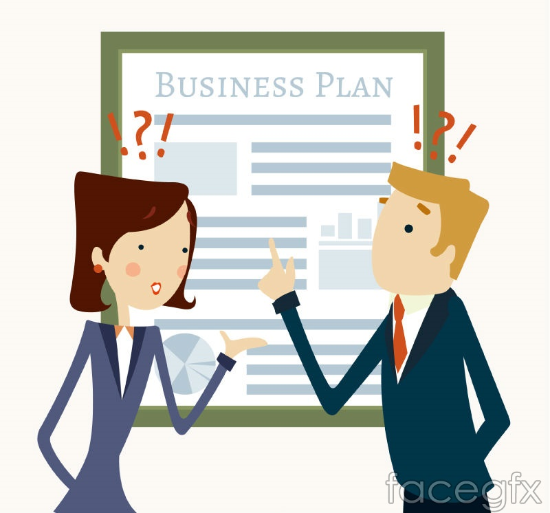 Creative business plan vector illustration
