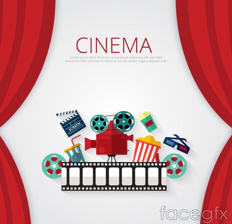 Delicate movies design elements vector