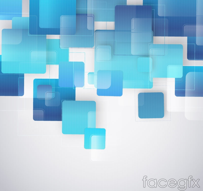 Fashion blue square background vector