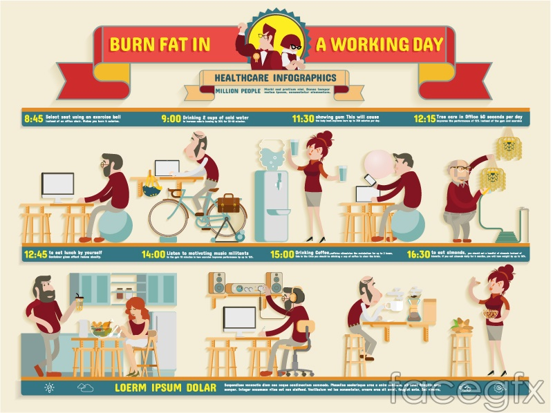 Health Day infographic vector
