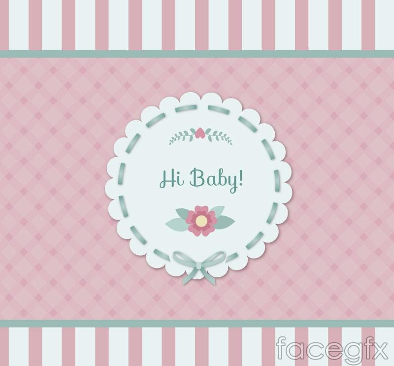 Pink Diamond Card vector