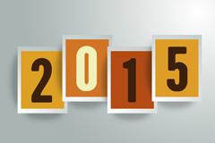 2015 rectangular pieces of WordArt, vector