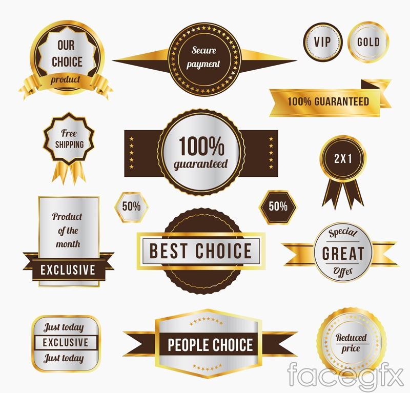 16 promotional tag vector