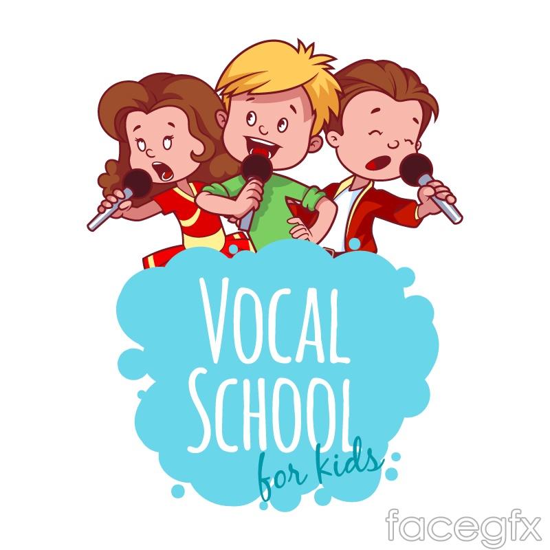 3 a Conservatoire singing boy vector