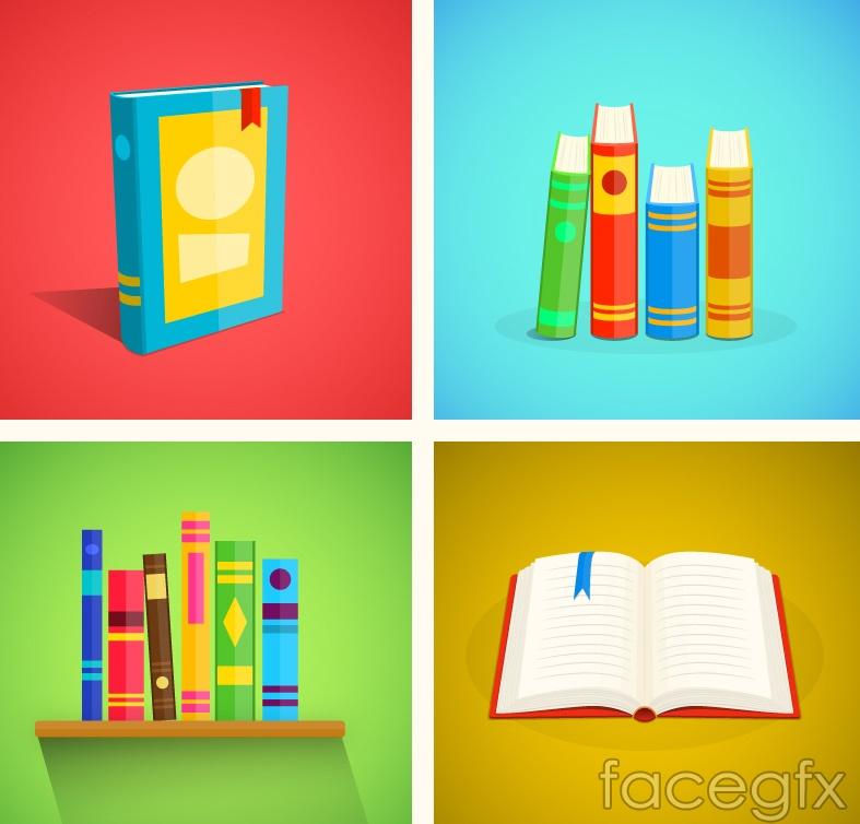 4-color book Illustrator vector