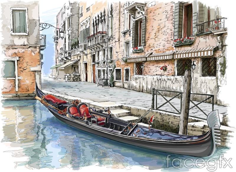 Aqua paint urban vector