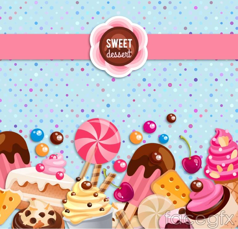 Beautiful sweet background vector