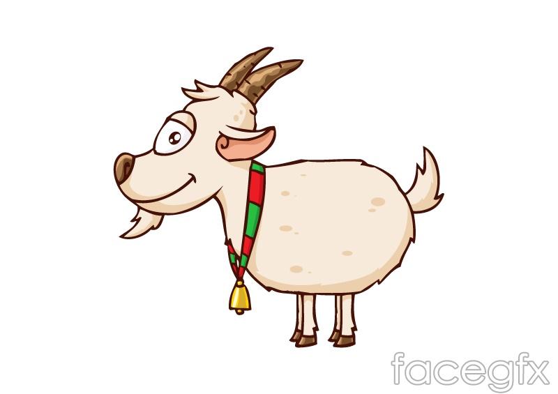 Bell cartoon goat vector