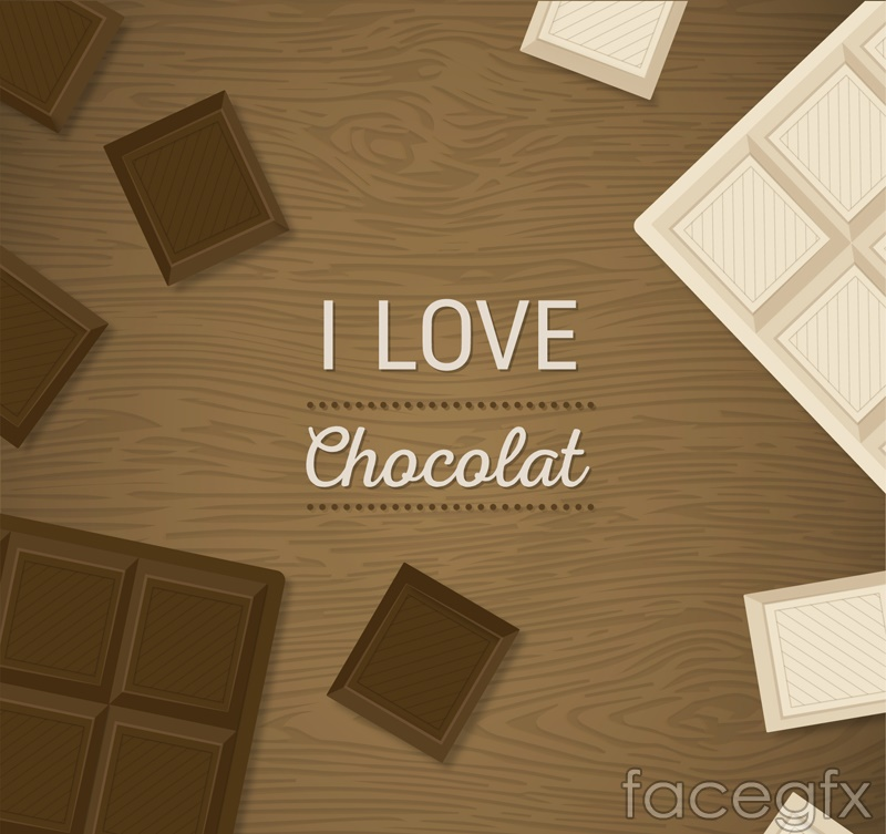Chocolate delicious black and white vector