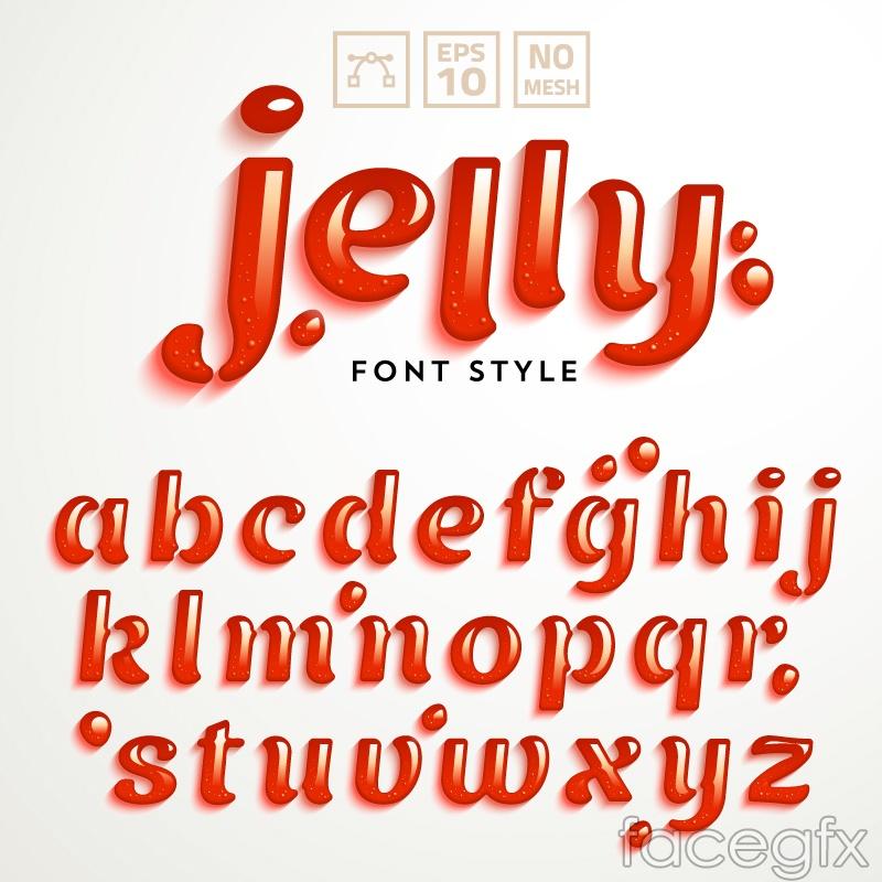 Creative Jello letter design vector