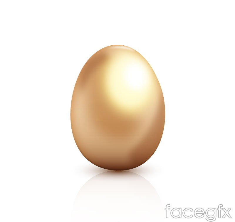 Golden egg design vector