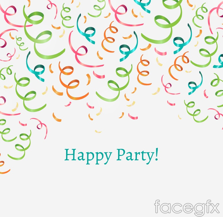 Party Ribbon color vector background
