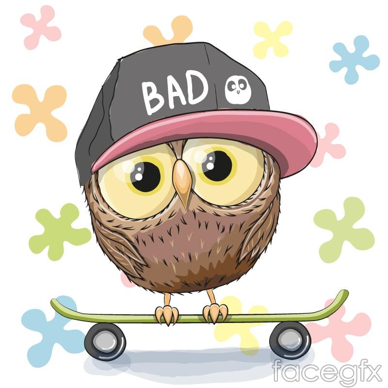 Step skateboarding OWL vector