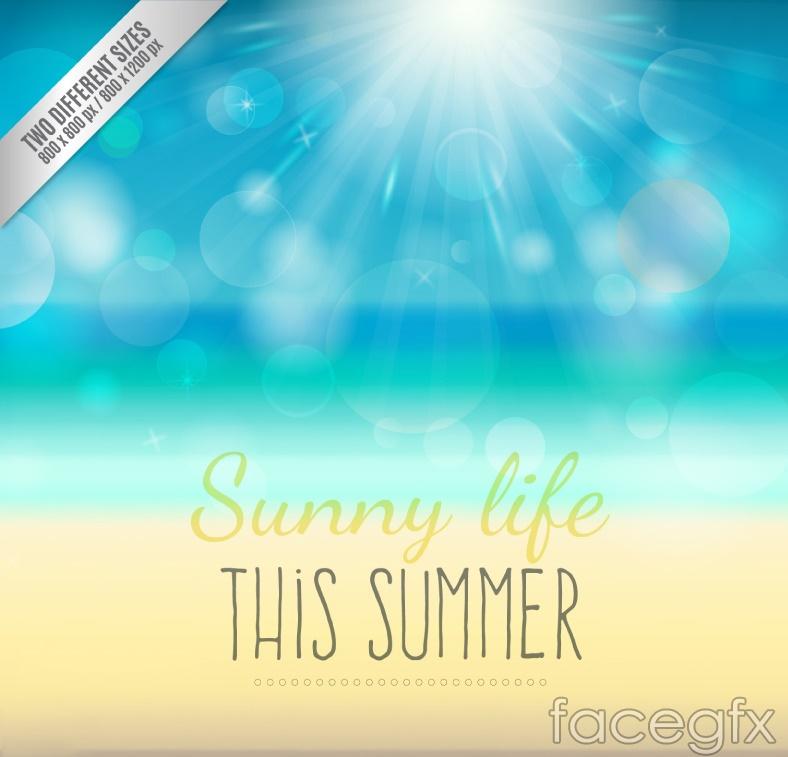 Summer Sun Beach vector
