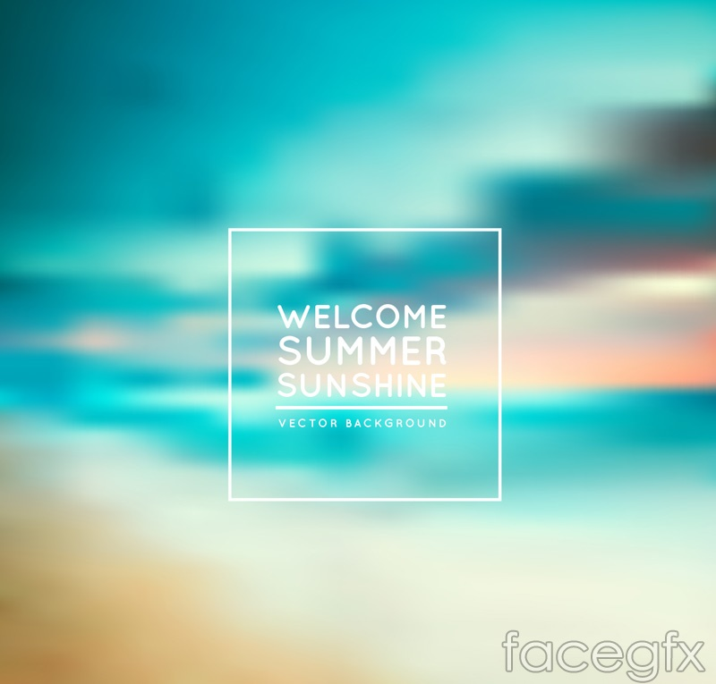 Welcome summer poster background vector map