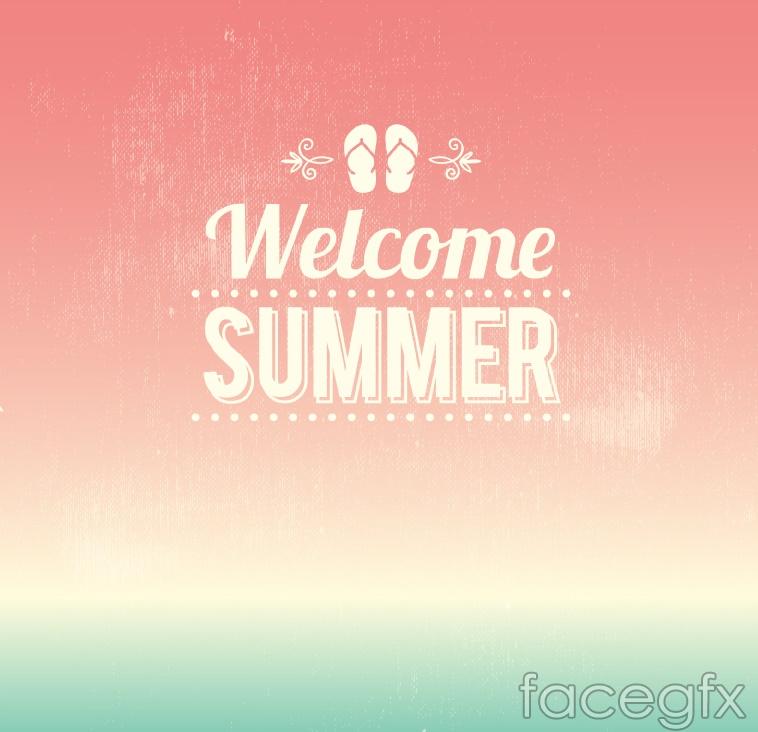 Welcome summer poster vector