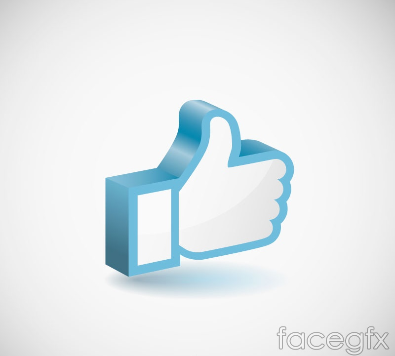 Blue solid thumbs like sign vector images