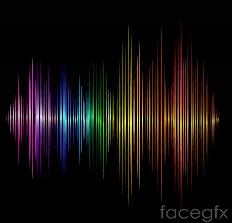 Color audio background vector