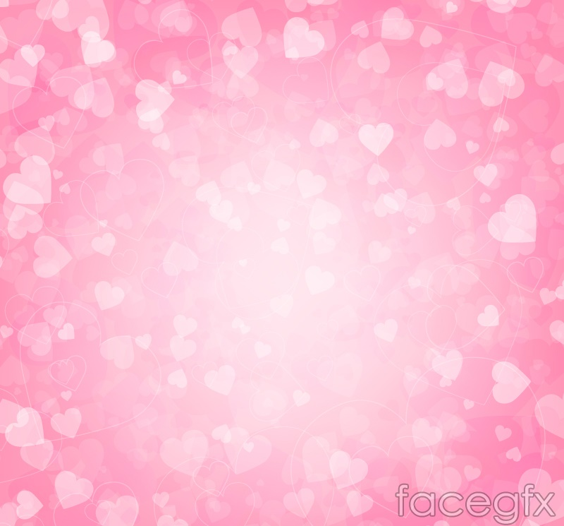 Colorful pink love background vector map