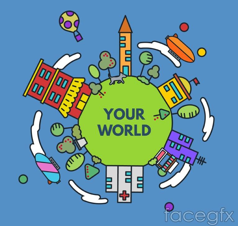 Earth vector illustration cartoon