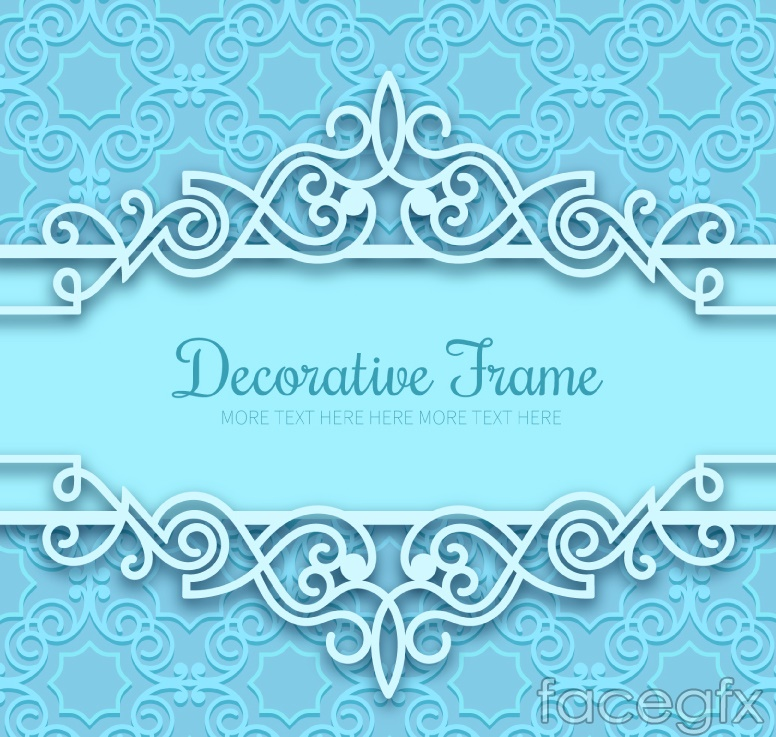 Exquisite blue background vector