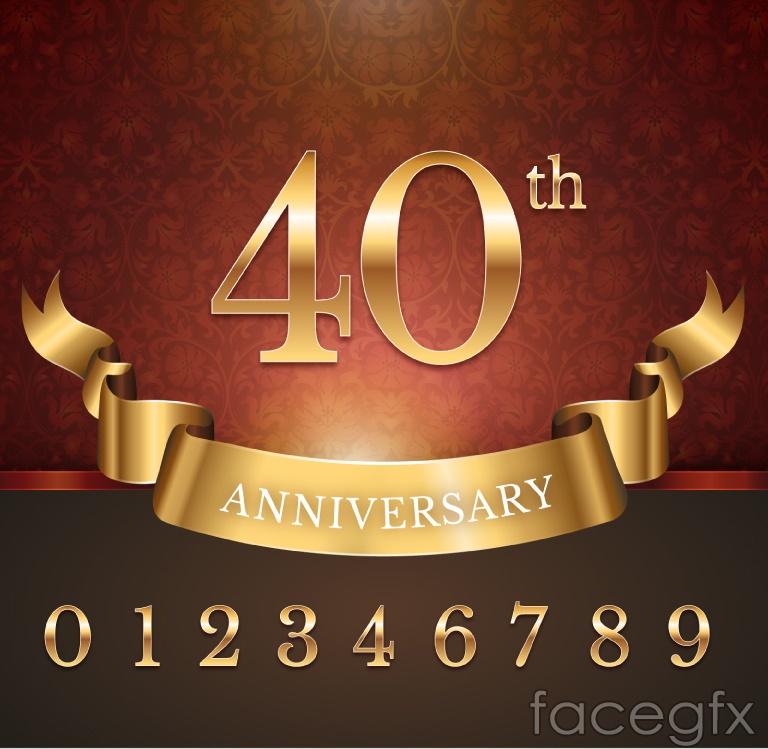 Golden anniversary digital design vector graph