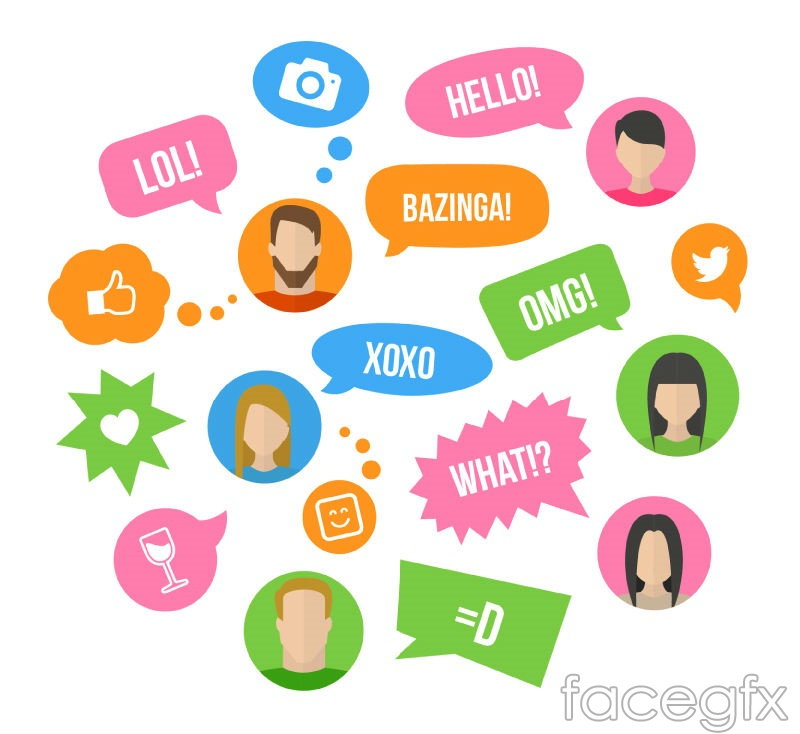 Player portrait and language bubbles vector