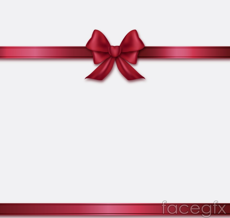 Red bows background vector