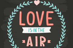 Color art such as air love vector