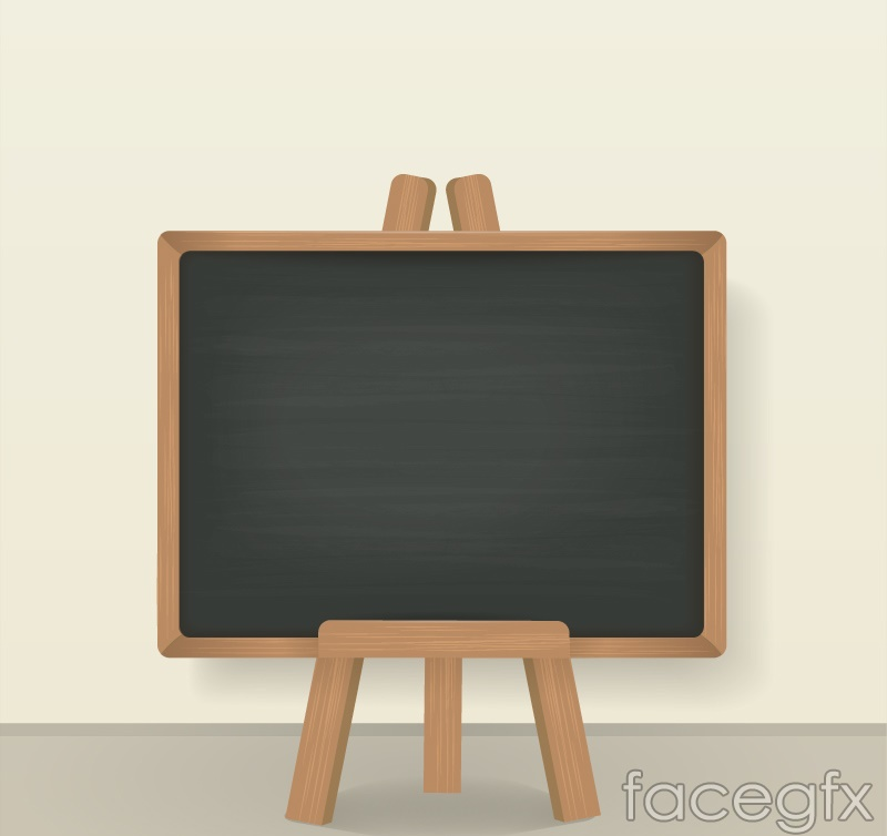 Vertical blank Blackboard vector