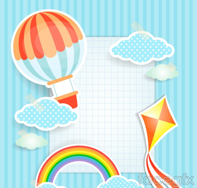 Clip art check the sky background vector