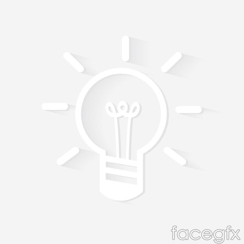 Creative white light bulbs vector