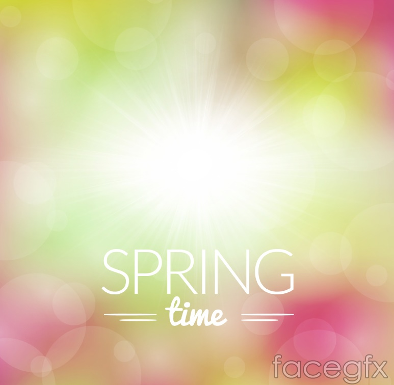 Fantasy spring time background vector