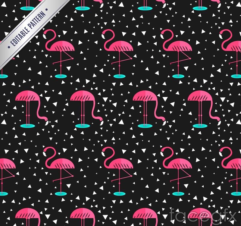Flamingo seamless vector background